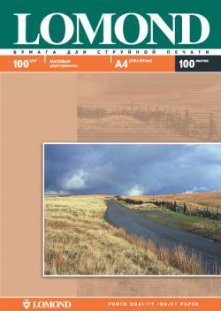 Двусторонняя матовая фотобумага для струйной печати, A4, 100 г/м2, 100 листов.