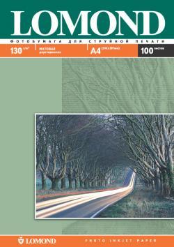Двусторонняя матовая фотобумага для струйной печати, A4, 130 г/м2, 100 листов.