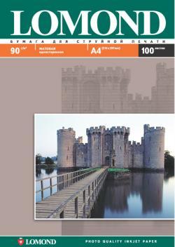 Односторонняя матовая фотобумага для струйной печати, A4, 90 г/м2, 100 листов.