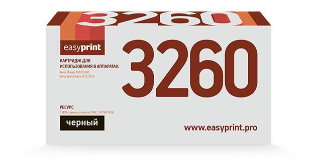 Тонер-картридж EasyPrint LX-3260 для Xerox Phaser 3052/3260/WorkCentre 3215/3225 (3000 стр.) с чипом
